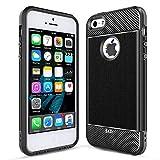 LeYi Coque iPhone 5/5S/SE, Original Case Texture Fibre de Carbone Ultra Slim Silicone...