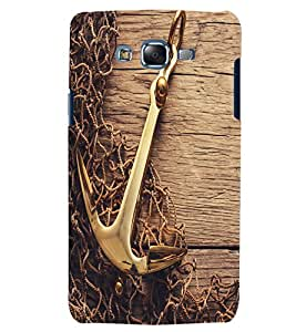 Citydreamz Golden Anchor Hard Polycarbonate Designer Back Case Cover For Samsung Galaxy J2 Pro