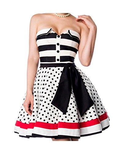 Belsira -  Vestito  - Senza spalline - Donna bianco/negro/rosso