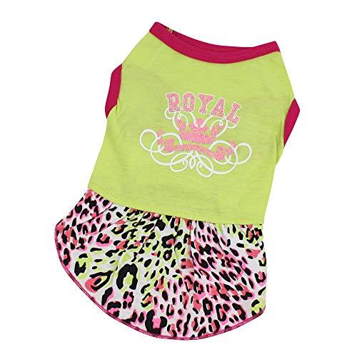 Koojawind Pet Sport Kleid Kleid, Hund Katze Sport Royal Brief Gedruckt Kleid Rock, Pet Puppy Dog Mint GrüN Prinzessin KostüM Bekleidung Kleidung