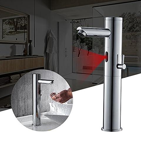 [Auralum] Automatischer Sensor Wasserhahn Infrarot badarmaturen waschtischarmatur Mischbatterie 34,8cm