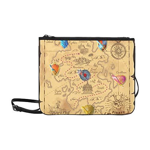Agirl cartella isola dei cartoni animati borsa a tracolla con tracolla a tracolla sottile in nylon di alta qualità colorata variopinta