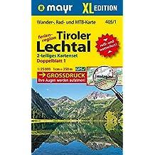 Tiroler Lechtal XL (2-Karten-Set): Wander-, Rad- und Mountainbikekarte. GPS-genau. 1:25000 (Mayr Wanderkarten)
