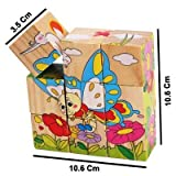 ToyTree (TM) 9 Piece Colorful Wooden Block Picture Puzzle for Toddlers and Small Children (Insect Theme)