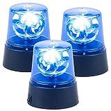 Lunartec Rundumleuchte: 3er-Set LED-Partyleuchten im Blaulichtdesign, mit 360°-Beleuchtung (Partylichter)