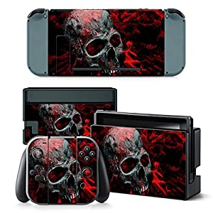 Nintendo Switch Skin Design Foils Aufkleber Schutzfolie Set – Vampire Skull Motiv