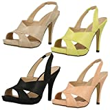 Ladies Anne Michelle Heeled Sling Back Sandals
