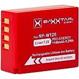 BAXXTAR PRO Batterie pour Fujifilm NP-W126 NP-W126s (1140mAh) Intelligent battery pour FinePix HS50EXR HS30EXR HS33EX X100F X-T2 X-T10 X-T20 X-Pro1 X-Pro2 X-E1 X-E2 X-ES2 X-A1 X-A2 X-A3 X-A10 X-M1