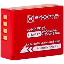 Baxxtar Pro Batteria per - Fujifilm NP-W126s NP-W126 (reale 1140mAh) per HS30EXR HS33EXR HS50EXR X-A5 X-A10 X-T1 X-T2 X-T10 X-T20 X-T100 ecc.