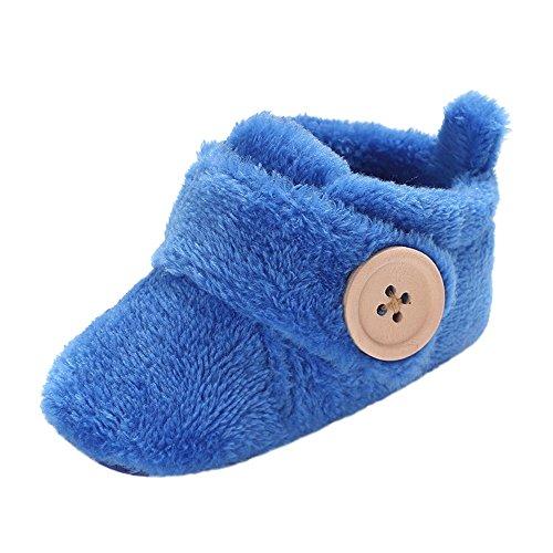 manadlian Chaussures Bébé Chaussures de bébé Round Toe Flats Soft Slippers Chaussures (9-12 Mois, Bleu Ciel)
