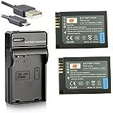 DSTE BP1900 Li-ion Batterie (2-Pack) et chargeur USB costume pour Samsung NX1