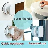 Sucker Main courante, Hunpta de bain Poignée de sécurité Ventouse pour rampe d'appui de salle de bain Grip Baignoire Barre de douche Rail blanc