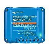 Controlador de carga Victron Energy BlueSolar MPPT y accesorios adecuados (1. Controlador de carga BlueSolar MPPT 75/10)