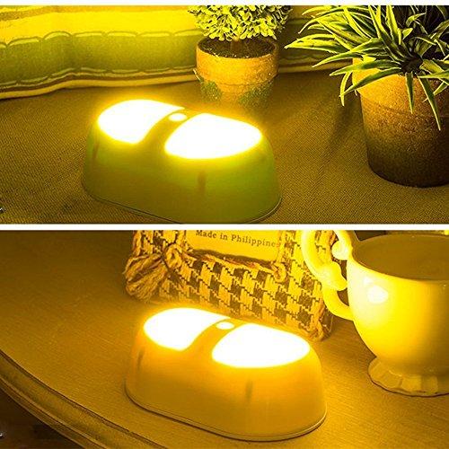 Noza Tec 10 LED Luce Notturna Lampada Sensore di Movimento Alimentazione a Batteria, Luce Portatile, Luce da Parete Per Corridoio, Camera da letto, Bagno, Sala(Warm White)