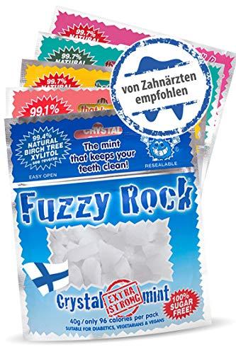 Zuckerfreie Xylit Bonbons (Kristalle) 5er Pack I 99{1f7d410466b83c45775c41c371158b3fbdb92918fd0cbb56409a667bf561407a} finnischer Xylit in reiner Form ohne Zusatzstoffe I Zuckerfreie, kalorienarme Süßigkeit I Zahnpflege mit Xylitol Birkenzucker in 5 Sorten