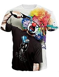 XUANYI Männer und Frauen Rundhals -T-Shirt mit 3D-Drucker Galaxie beiläufige Straße Art und Weise sports Spaß gemustertes Hemd T-Shirt