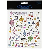 Tattoo King Multicolored Stickers-Music Notes