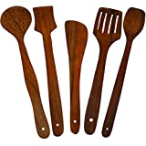 [Sponsored]Crafts A To Z Multipurpose Serving And Cooking Spoon Set For Non Stick Spoon For Cooking Baking Kitchen Tools Essentials Wooden Non Stick Spatulas , Ladles Mixing And Turning Mixing And Turning Handmade Wooden Serving And Cooking Spoon Kitchen