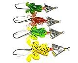 LENPABY 8pcs / lot Topwater Rana Suave Señuelos de Pesca Cebos Bass Crankbait Tackle 9 cm /...