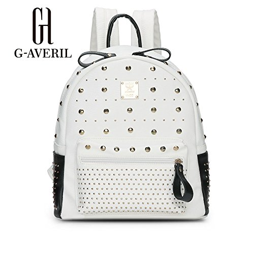 G-AVERIL GA1116-Q, Borsa a zainetto donna Argento Silvery White
