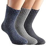 Vitasox 13352 Damen Socken Angora Damensocken Wollsocken Angorasocken Wintersocken einfarbig mit Innenfrottee ohne Naht jeans grau anthrazit 39/42
