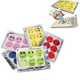 Geshiglobal Anti-Mücken-Aufkleber, 60 Stück/Set, Motiv: Smiley, zufällige Farbwahl