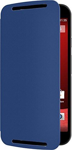 Motorola Flip Shell Hülle Case Cover für Moto G (2. Generation) Smartphone - Royal Blau