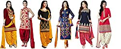 SKY GLOBAL Women's Unstitched Printed Salwar Suit (Combo pack of 6) (SKY_Combo_9082) (SKY_893) (SKY_852) (SKY_894) (SKY_561) (SKY_858) (SKY_528)