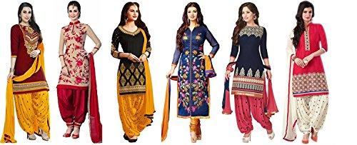 SKY GLOBAL Women\'s Unstitched Printed Salwar Suit (Combo pack of 6) (SKY_Combo_9082) (SKY_893) (SKY_852) (SKY_894) (SKY_561) (SKY_858) (SKY_528)