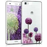 kwmobile Huawei P8 Lite (2015) Hülle - Handyhülle für Huawei P8 Lite (2015) - Handy Case in Pink Violett Transparent