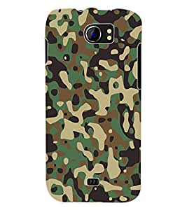 Colourcraft Army Dress Back Case Cover For Micromax Canvas 2 A110
