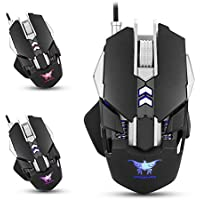 Combaterwing CW30Wired Gaming Mouse 7pulsanti 3200DPI 1000Hz Return rate Weight Tuning 4color respirazione luce LED