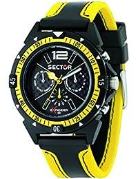 Sector Herren-Armbanduhr EXPANDER 90 Analog Quarz Edelstahl beschichtet R3251197022