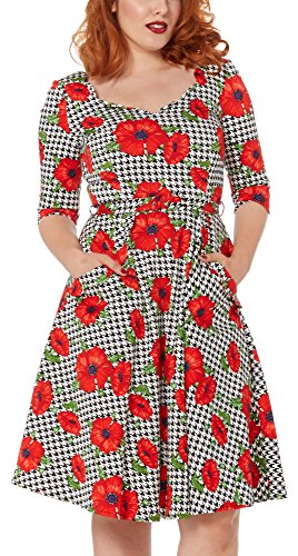 Voodoo Vixen Kleid POPPY SUZANNE DRESS 8081 Weiß XL -