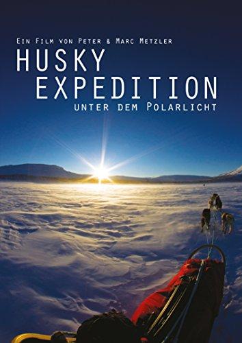 Husky Expedtion unter dem Polarlicht