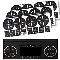 StyleZ 3PCS Replacement AC Dash Button Decal Stickers Fix Ruined Faded A/C Controls Repair Kit for Suburban, Chevy Tahoe, Silverado, Traverse, GMC Acadia, GMC