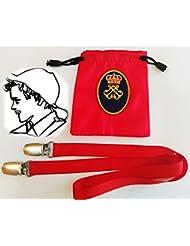 dicep Clip Anti-Viento para Gorras y Sombreros (Rojo)