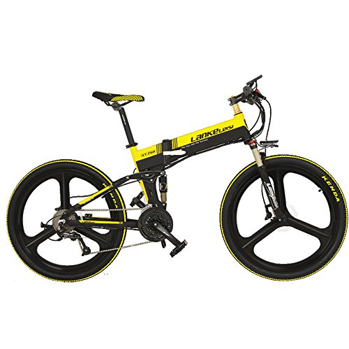 51y7AvqfCVL. SS500  - LANKELEISI XT750 with Advanced configuration - 26Inch Folding Ebike 48V Full Suspension 7 Speed Lithium E-bike Mountain - Electric Bicycle Motor 240Watt