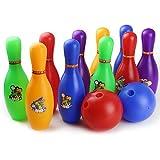 Kinder Bowling Spiel, Vicoki 12 stücke Kinder Bowling Set Spielzeug Outdoor Indoor Bowling Pins Spiel mit 2 Bälle (groß)