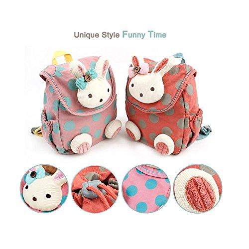 Comfysail Mignon Motif Animé de Lapin sacs à dos bébé Sac à dos Maternelle Enfant Sac d'école pour Enfant Bébé Fille (Pastèque rouge)