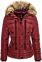 Navahoo Damen Winter Jacke Fell Parka Glanz Stepp Mantel Kurzjacke warm B302