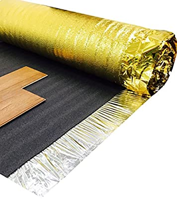 Sonic Gold 30sqm Sonic Gold Laminate Wood Flooring Underlay 5mm Thick by Laminate Underl produced by Novostrat - quick delivery from UK.