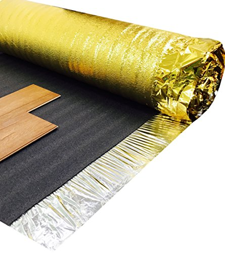 Super Gold Comfort 5mm Laminate Wood Floor Underlay With Damp Proof