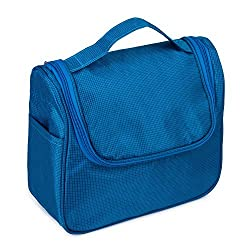 Blue : Hanging Travel Toiletry Bag Men Women Cosmetic Makeup Bag Shaving Organizer Kit Portable Storage Bag(Blue)