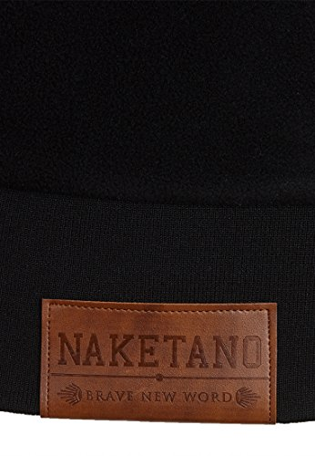 Naketano Male Zipped Jacket Der Gedudelte Black