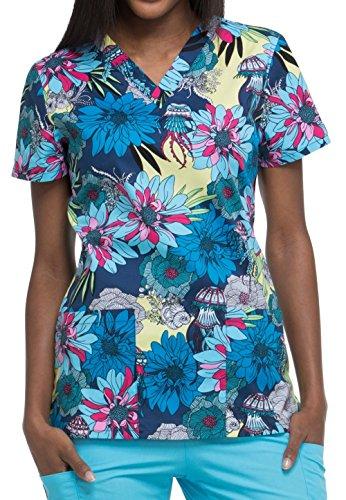 Dickies Schlupfhemden Print Bunt NEU direkt aus Amerika (S, Aquatic Garden (blau)) -