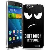 Vabneer FUNDA DE GEL SILICONA caso para Huawei Ascend G7 Protectora Caja TPU Flexible Cáscara Don't touch my phone