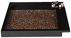 Cocktail Wooden Serving Tray, Black