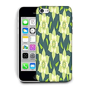 Snoogg Yellow Floral Printed Protective Phone Back Case Cover For Apple Iphone 6 / 6S