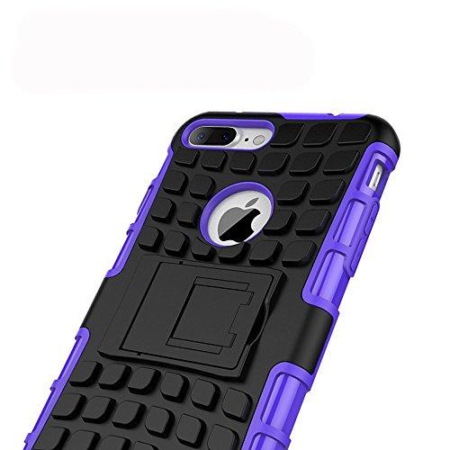 Stand Hülle für iPhone 7 Plus,Wallet Hülle für iPhone 7 Plus,Flip Hülle für iPhone 7 Plus Lederhülle Handyhülle TPU Tasche Case,EMAXELERS Cool Reifen Muster iPhone 7 Plus 5.5 inch Hülle stoßfest Schwe Tire Pattern 7